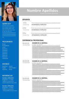 Modelo curriculum vitae documentado simple